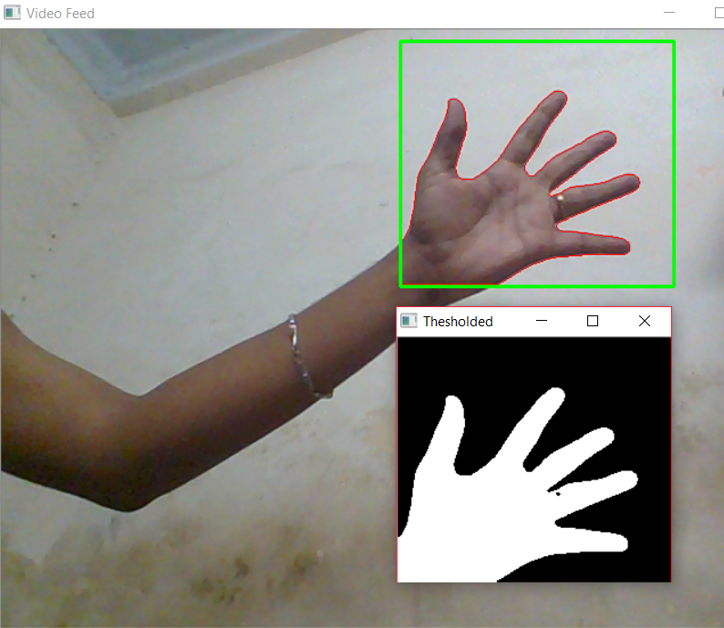 Hand Gesture Recognition using Python and OpenCV - Part 1 – Gogul Ilango